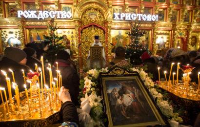 В ночь с 6 на 7 января в 23.30 Рождественская служба в Соборе Святой Троицы